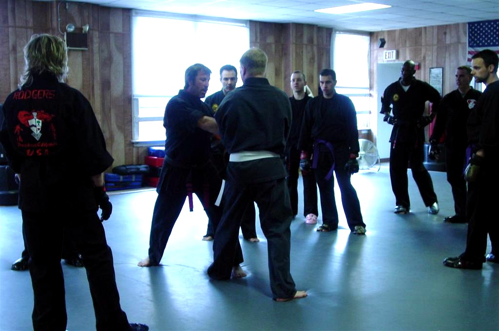 sparring kenpo class